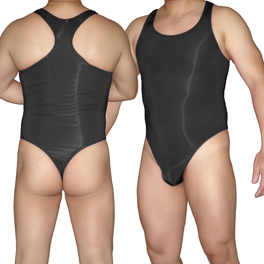 c2001b647a RE441 Hot Mens Bodysuit Stretch Swimsuit Tricot Smooth Soft