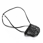 Mens Pouch String Thong C-thru Net Spider Net
