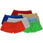 KB003N Hot Mens Soft Trunks w/ Sleeve Low Rise Soft Smooth Silky Tricot